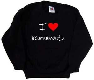 I Love Heart Bournemouth Kids Sweatshirt