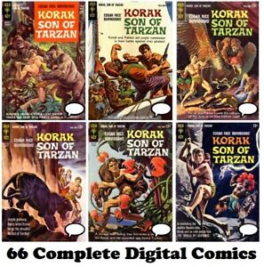 KORAK Son of Tarzan #1 – 66 FULL RUN comics on DVD DC Gold Key 1964