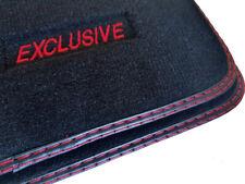 Exclusive Fußmatten für Mercedes SL R129 CABRIO Bj.1989-2001 Velours Auschrift