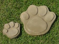 Lg & Sm Dog Cat Paw Footprint Concrete Stepping Stone Mold  1009 Moldcreations