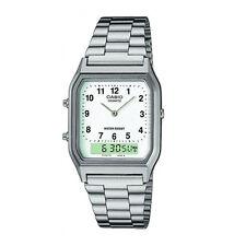Casio AQ230A-7BMQ Mens ,Boys,GirlsCombi Timer Dual Time watch Arabic Number Dial