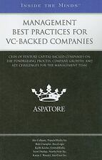 Management Best Practices for VC-Backed Companies: CEOs of Venture Capital-