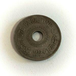 20 Mils 1933 RARE Palestine Coin British Mandate * Key Date * Only 250,000 Mint