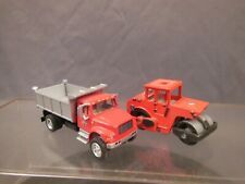 Ho Scale Dump Truck And Roller/Compactor Construction Layout Vehicles