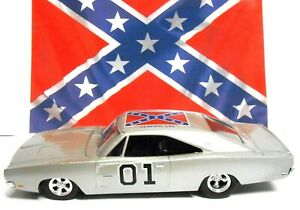 1/25 Scale SILVER Dukes of Hazzard General Lee Racing Champs 1969 Dodge Charger