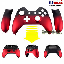 Front Housing Shell Faceplate Side Rails for Xbox One Controller Shadow Red
