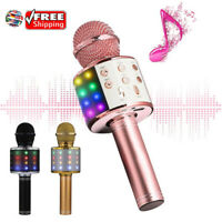 Home Wireless Bluetooth Karaoke Microphone Speaker Handheld Music Player Singing