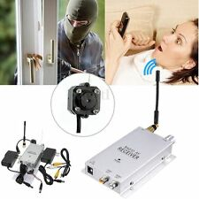 Mini Wireless Security Nanny Camera Hidden Spy Pinhole Micro Cam Complete System