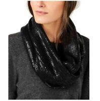 INC International Concepts Liquid Shine Infinity Scarf, Black