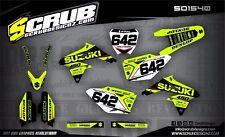 SCRUB Suzuki graphics decals kit RMz 250 2007-2009 MX stickers motocross '07-'09
