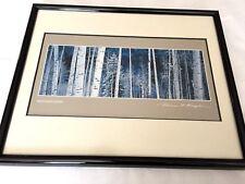 """Thomas D. Mangelsen Framed Print 'White River Aspens' 8"""" by 3"""" Matted Signed"""