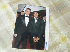 David BECKHAM 2005 England FOOTBALL Legend with Boxer Amir KHAN Press Photo