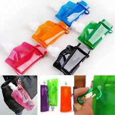 2pcs Flexible Collapsible Foldable Reusable Water Bottles Ice Bag Outdoor Sport