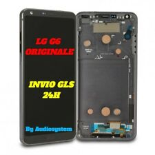 DISPLAY+ TOUCH SCREEN+FRAME COVER ORIGINALE LG G6 H870 OPTIMUS NERO GRIGIO LCD