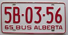 Alberta 1965 BUS License Plate HIGH QUALITY # 5B-03-56