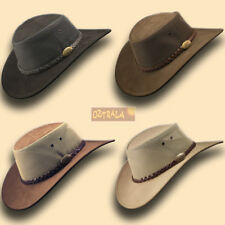 【oZtrALa】 LEATHER Breezer Hat Australian Cowboy Stetson-Style Men's Golf OUTBACK
