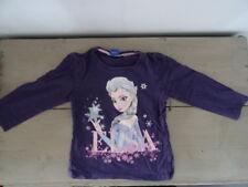 T-shirt manches longues violet imprimé LA REINE DES NEIGES DISNEY Taille 4 ans