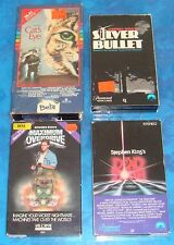 """BETA: STEPHEN KING Lot D of 4: """"Dead Zone,Cat's Eye,Silver Bullet, Max Overdrive"""