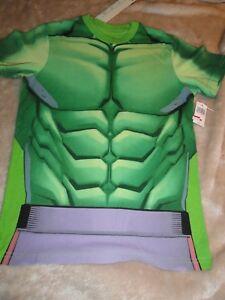 Large 10/12 Youth Hulk Muscle Shirt Disney Parks NWT