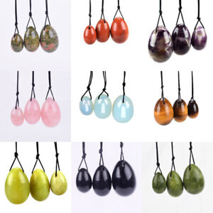 Natural Various Crystal Yoni eggs Kegel Exercise Crystal healing Balls Massage