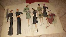 HAUTE COUTURE , WIENER MODEKUNST, 2 Kataloge mit Zeichnungen 40er/50er Jahre