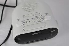 Sony Dream Machine Alarm Clock Dual AM FM White Radio Auto Time Set ICF-C318