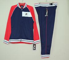 c0bc88fff842 New Fila Mens Gym Jogger Moda Tricot Tracksuit Jacket Pants Set Blue SZ M L  2XL