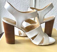 NEW Michael Kors Damita Shoes, Sandals, Sling back, Open toes, White SZ 9M