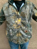 Carhartt mens Midweight Realtree XTRA Camo Zip Front Hooded Sweatshirt S M L XL