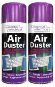 2X Large 400ml Compressed Air Can Duster Spray Protects Cleaner Laptops Keyboard