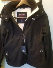NWT Hollister Women's All-Weather Stretch Fleece-Lined Jacket  Black size Small