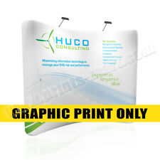 8' Tension Fabric Trade Show Display Pop Up Booth Replacement Banner Printing