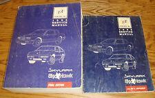Original 1988 Buick Skylark Skyhawk Shop Service Manual + Supplement 2 Book Set