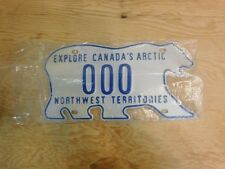 Explore Canada's Arctic northwest territories Polar Bear Sample License Plate