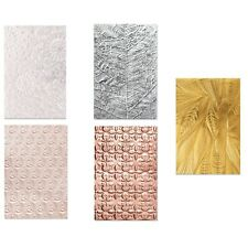 Sizzix 3D Textured A6 Embossing Folder Bundle - 5 x Folders
