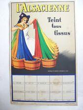 affiche ancienne carton publicitaire teinture Alsacienne 1930 Alsace