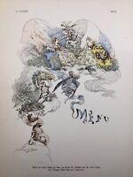 Menu 1889 Dîner offert au Palais de l'Élysée au Tsar Russie G. Clairin Marianne