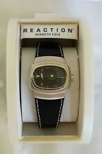 Rare NOS KENNETH COLE REACTION Stretch Dial Watch Black Japan Movement Miyota