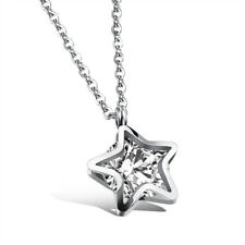 New Women Fashion Elegant Lucky Star Design Necklace Stainless Steel Jewelry