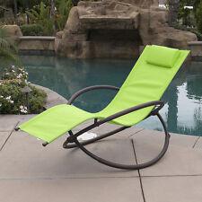 1PC Folding Orbital Folding Zero Gravity Lounge Chairs Outdoor Beach Patio Green