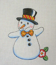 Handpainted Needlepoint Canvas Mary Engelbreit Snowman Me-Sw05