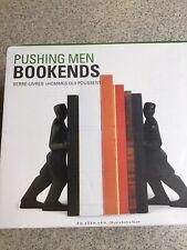 "Pushing Men Bookends Chris Collicott Design 8"" X 3,5"" X 4"" Kikkerland New In Box"
