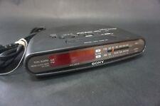 Sony Dream Machine Am Fm Clock Radio Icf-C390 black 9v back up red date display