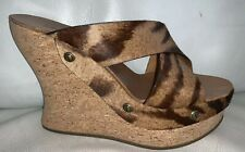 Chloe100% Amazing Animal Print Pony Hair Wedges Sz 40.5