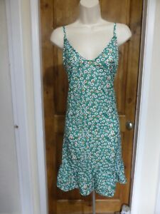 Pretty green, white and red floral tunic dress from Tendency size 16