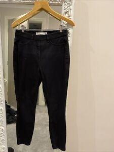 Next Jersey Denim Leggings Full Length 8 Petite Black