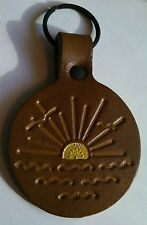 NOS Vintage hippie Sunshine leather key fob boho gypsy grateful dead phish