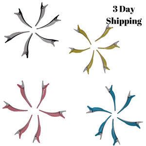 6 PCS Durable Dolphin Salon Hair Styling Clips-Sectioning Hair Clip Plastic New