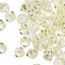 144 Swarovski Crystal 4mm Xilion Faceted Bicone Double Cone Beads W/ Facets A-K