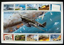 GAMBIA WWII STAMPS SHEET MNH 1992 PEARL HARBOR BATTLE OF MIDWAY AIRCRAFT